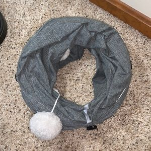 Gray Collapsible Cat Play Tunnel new